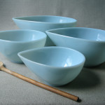 Object of the Day – Turquoise Blue Swedish Mixing Bowls