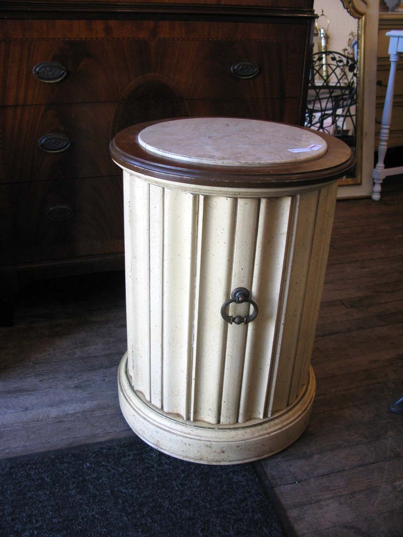 187 Before Amp After Fluted Column Side Table