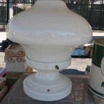 Before & After – Vintage Porcelain Light Fixture