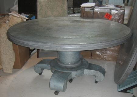 Zinc wrapped dining table - 3