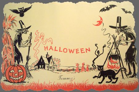 HalloweenPostcardGray