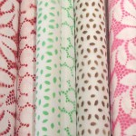 Spray-Painted Lace Wrapping Paper