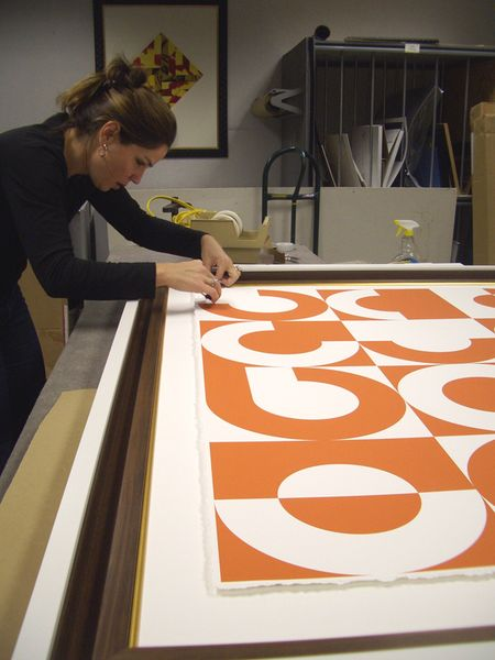 Step 10 - measuring-centering the art in the float frame