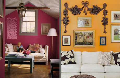 At home with color for Rich colors for living room
